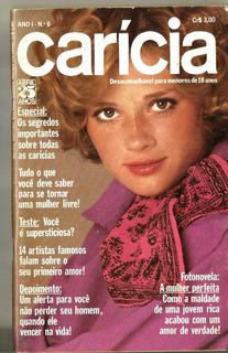 Revista Carícia Nº 6/1975 - Elis Regina/liz Taylor/rita Lee