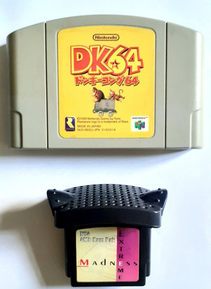 Expansion Pak 4mb + Jogo Donkey Kong 64 Japonês