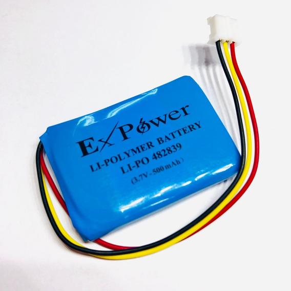 Bateria Li-po 3,7v 500mah Com Pcb Expower Recarregável
