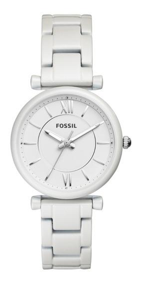 Reloj Dama Fossil Es4401 Color Blanco De Acero Inoxidable