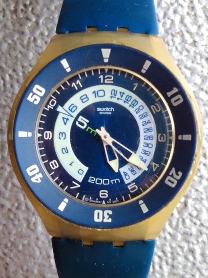 Relógio Swatch Whale Ride Mergulho Sem Bateria