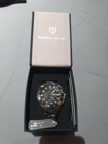 Pra Vender! Relógio Pulseira De Aço Cronógrafo Pagani Design