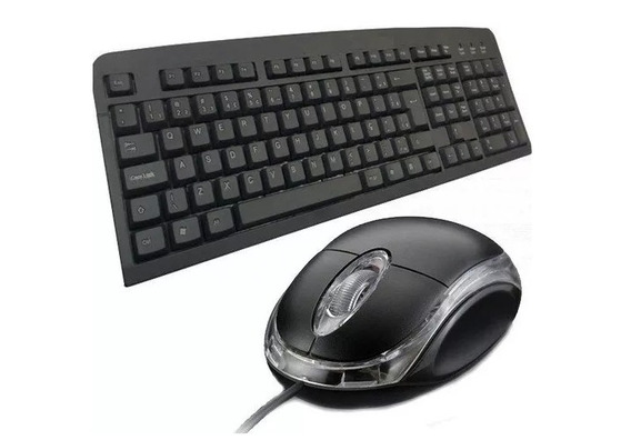 Teclado E Mouse Com Fio Usb Ltomex