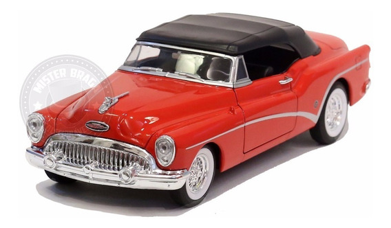 Miniatura Buick Skylark 1953 Vermelha C/ Teto Preto 1/24