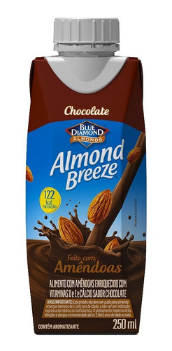 Bebida Vegetal De Amêndoas Almond Breeze Chocolate 250ml