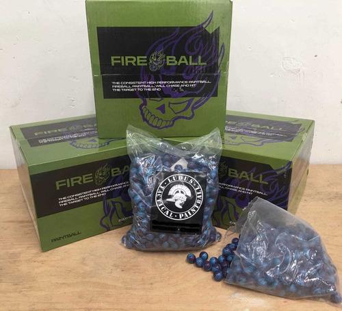 2000pellets Bolitas De Pintura De Magfed Paintball-fireball