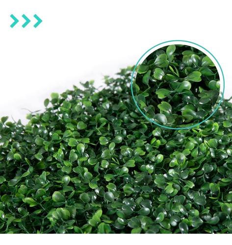 Ligustrina Artificial Muro Arbusto Planta Pack Verde 10u
