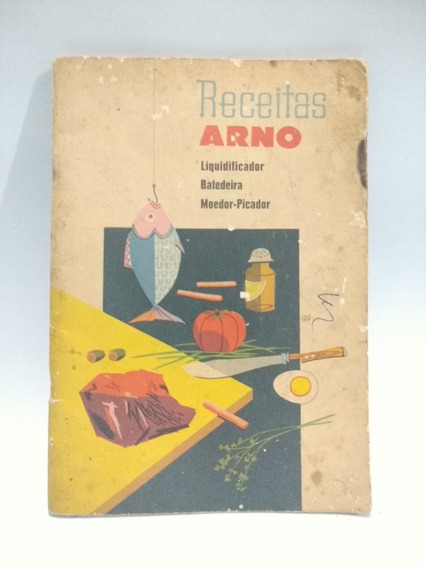 Livro De Receitas Antigo Marca Arno
