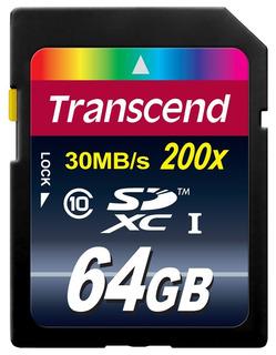 Transcend 64gb Sdxc Clase 10 Flash Memoria Tarjeta Arriba A