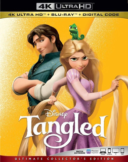 4k Ultra Hd + Blu-ray Tangled / Enredados