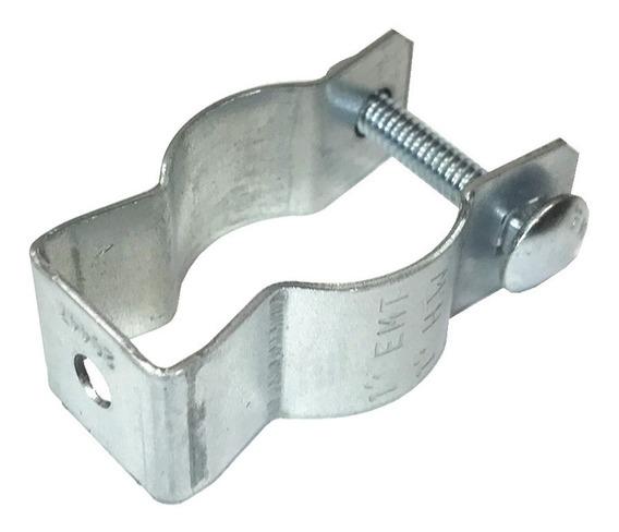 Pak 6 Soporte Clip Counduit 1 Pulgada 25mm Acero Galvanizado