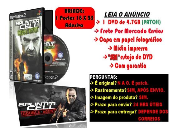 Splinter Cell: Double Agent Para Ps2 + Brinde Poster Adesivo