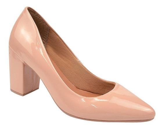 Sapato Feminino Scarpin Salto 6 Cm Rosa Chic (48-001)