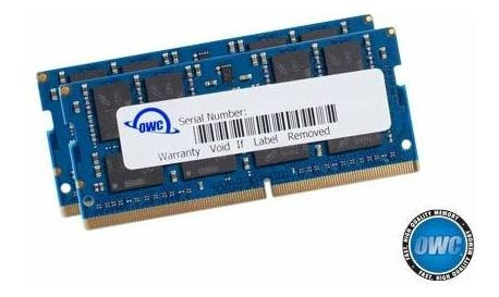 Memoria Ram 64gb Owc (2 X 32gb) 2666mhz Ddr4 Pc4-21300 So-dimm 260 Pin Upgrade (owc2666ddr4s64p) Para 2018 Mac Mi