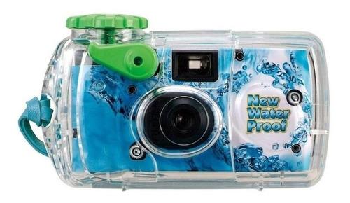 Imagen 1 de 1 de Cámara desechable Fujifilm QuickSnap Marine celeste/verde