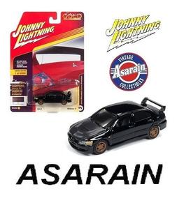 Mitsubishi Lancer Evolution Preto Johnny Lightning 1/64