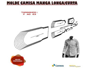 Molde Camisa Manga Longa/curta Frete Grátis