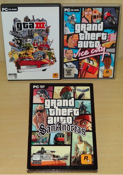 Grand Theft Auto Iii 3 + Vice City + Gta San Andreas - Pc