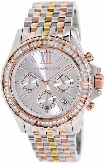 Relógio Michael Kors Mk5876 Everest Dourado Rose Prata Misto