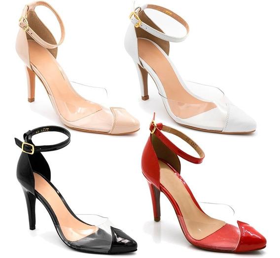 Sapato Sandalia Scarpin Salto Alto Transparente Varias Core