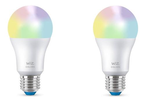 Ampolleta Led Bulb Wiz Wifi Color 9w E27 X2 Unidades