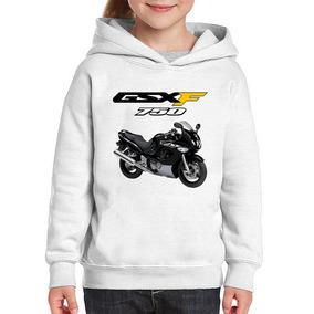 Moletom Infantil Moto Suzuki Gsx 750 F Katana Preta