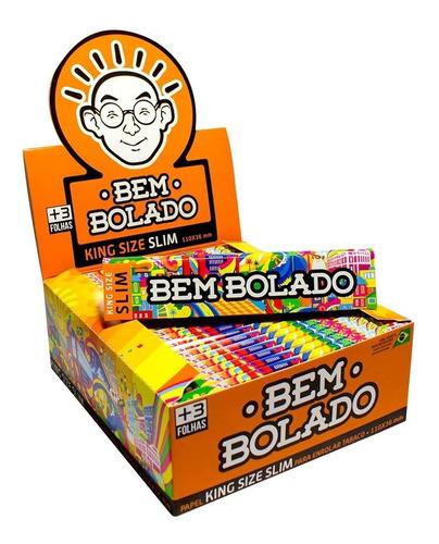 Caixa Seda Bem Bolado Original Pop King Size Slim 50 Pacotes