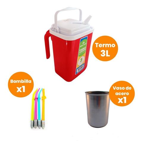 Kit Terere Termo 3l Con Mate Plástico Y Bombilla