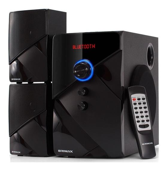 Home Theater 2.1 Sistema Caixa Som Bluetooth Mp3 Usb Briwax