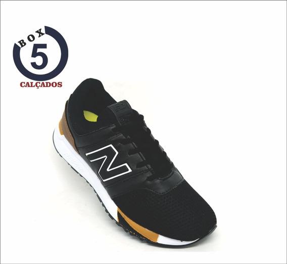 Tênis New Balance 247 Revlite Preto E Caramelo