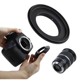 Anel Inversor 58mm Reversor Macro Lente Canon 18-55 50mm P15