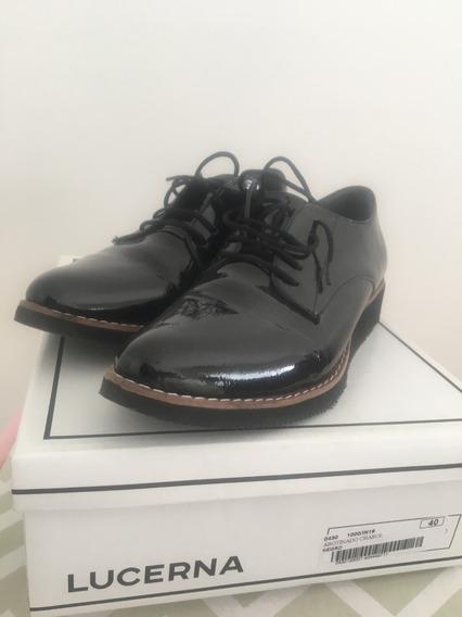 Zapatos Abotinados Charol Lucerna, Nuevos!!