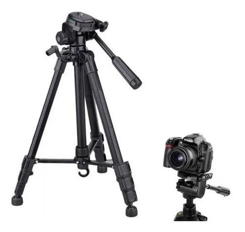 Imagem 1 de 3 de Tripé Câmera Profissional Canon 1,80 Mts + Suporte Celular