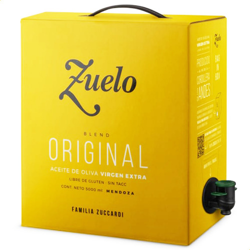 Aceite De Oliva Zuelo Clasico 5000ml 5lt Extra Virgen Caja