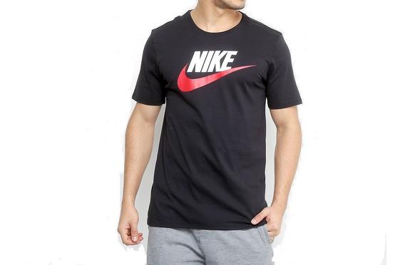 Camisa Nike Preta Original Futura Icone Logo Casual G Gg