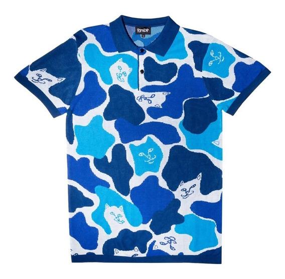 Playera Ripndip Nerm Camo Polo Shirt Original Nermal Gato