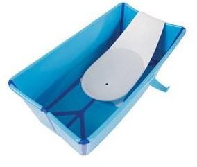Banheira Dobrável Stokke Azul, Usada Poucas Vezes, Kit