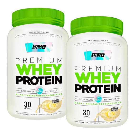 Premium Whey 2 X 2 Lb - Proteína De Suero Star Nutrition