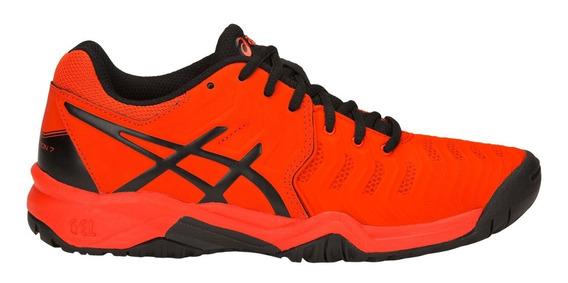 Tenis Asics Niño Joven Naranja Gel Resolution 7 C700y801