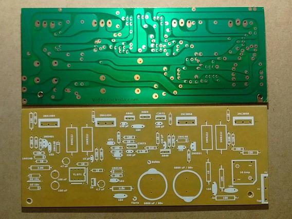 Plaqueta Circuito Impreso Amplificador Complementario 250w