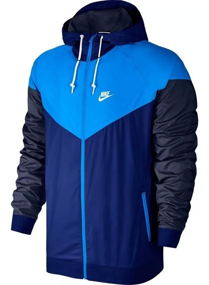 Jaqueta Corta Vento Nike Azul Masculina Impermeável