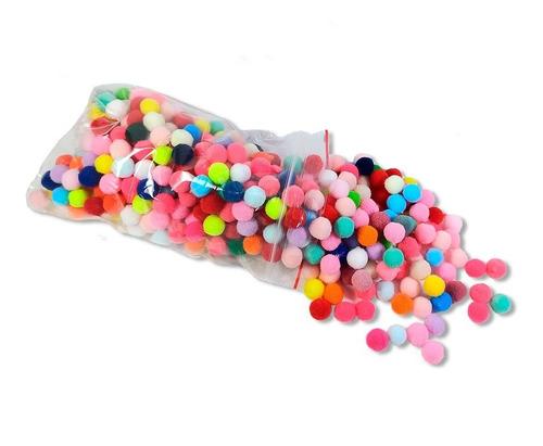 500 Mini Pompom Colorido 10 Milímetros Preço Baixo