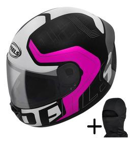 Capacete Feminino Moto Peels Spike Ghost Preto Rosa N Ebf
