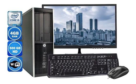 Computador Completo Hp 8200 I5 2°geração 4gb Hd 500gb Wi-fi