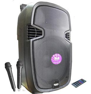 Bafle Potenciado Gbr Pl600 Bateria Bluetooth Con 2mic Cuotas