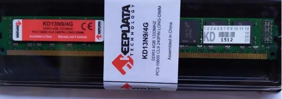 Memoria P/ Desktop Ddr3 4gb 1333mhz Keepdata 1.5v Kd13n9/4g