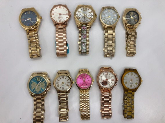 10 Relógios Modelos Variados + Caixinha Simples + Atacado