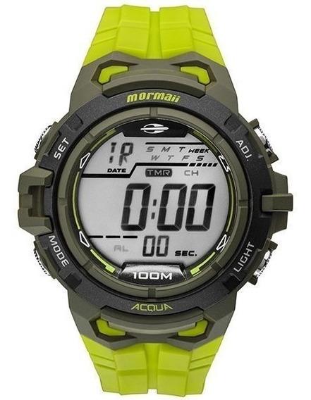 Relógio Mormaii Masculino Verde Digital Sport Pronta Entrega