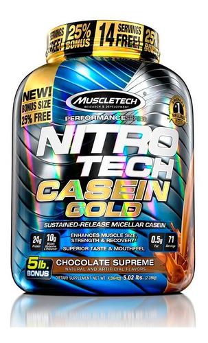 Proteína Nitrotech Casein Gold Chocolate 5lb