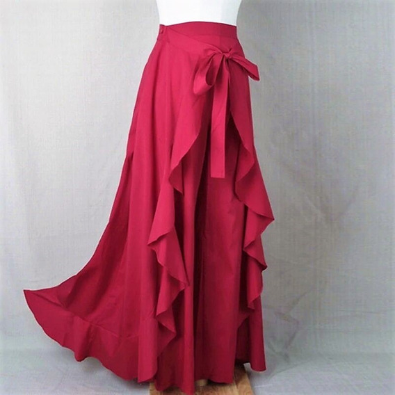 Falda Pantalón Dama Elegante En Varios Colores